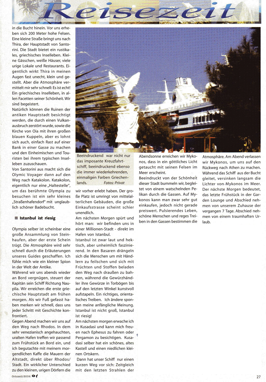 Olympia Voyager Spion in der Antike Kamen Magazin 01