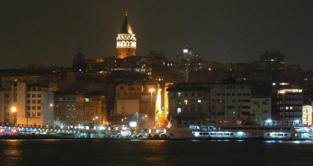 Istanbul , die europäische Seite, Karaköy mit Galataturm