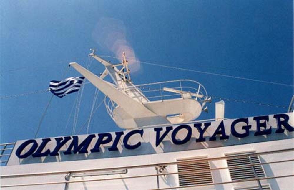 Die OLYMPIC VOYAGER trägt mit Stolz die Flagge ihres Heimatlandes