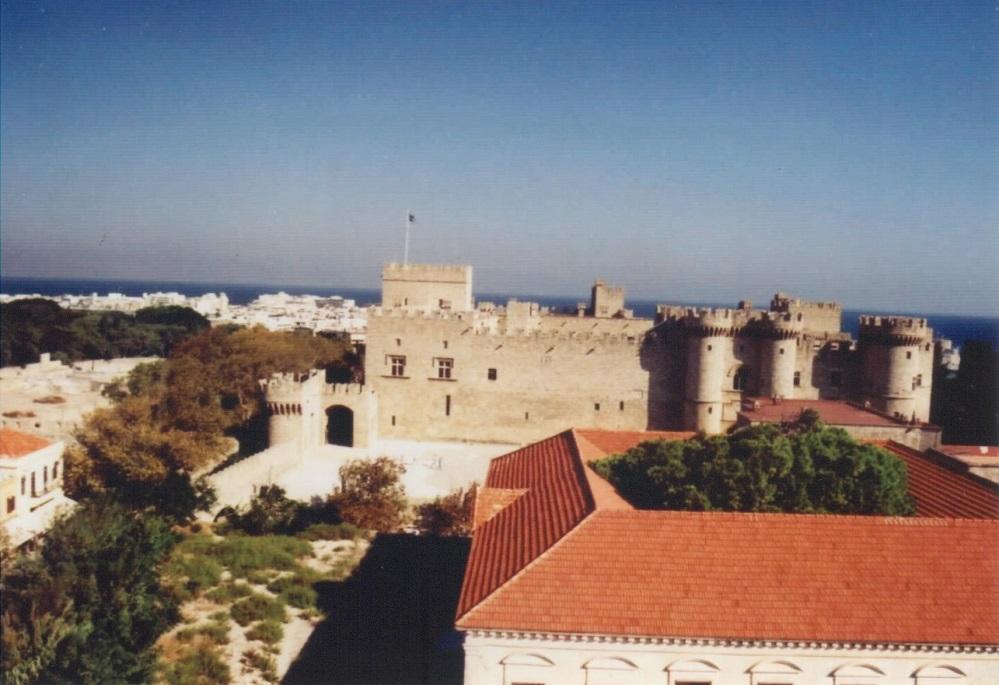 Rhodos, die alte Malteser Festung von Byzantiner Turm aus