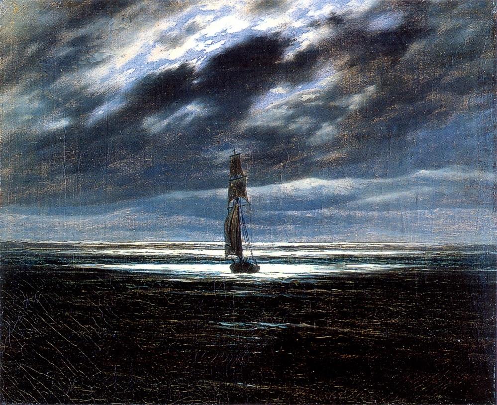 See im Mondlicht von Caspar David Friedrich, Quelle: Wikipedia