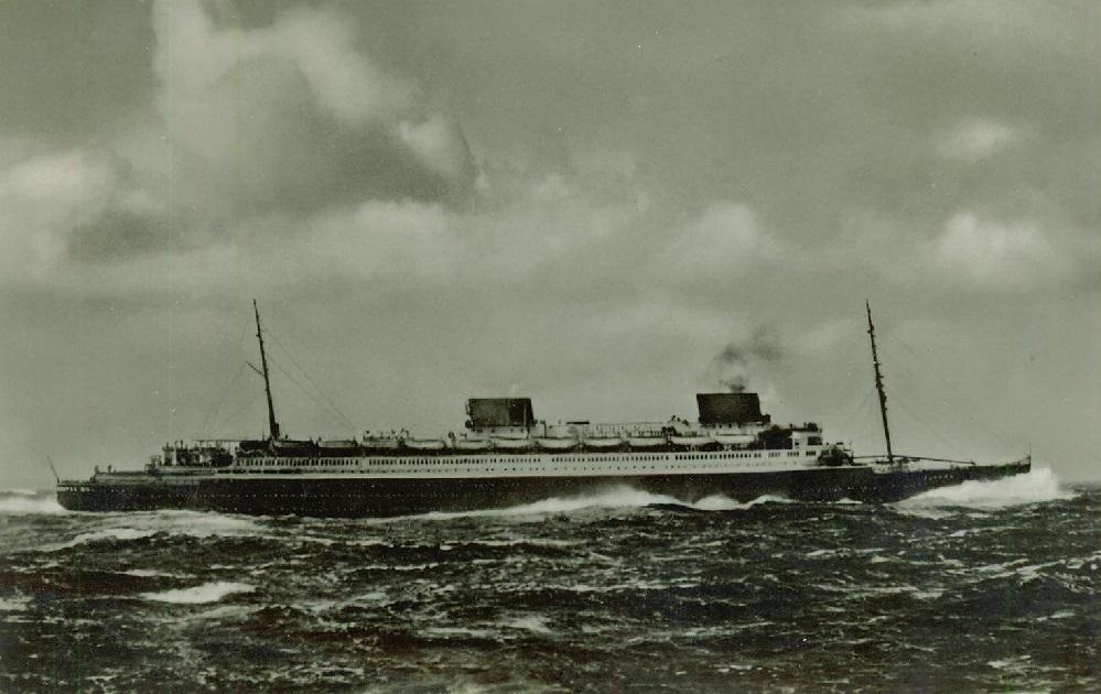 ts EUROPA in schwerem Nordatlantik Wetter 1930